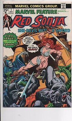 Marvel Feature #1 Vf/nm 1975 Red Sonja Solo Series Movie Coming!?!?