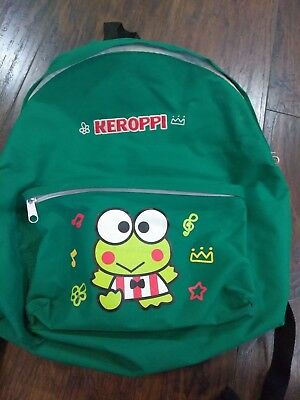 keroppi backpack vtg 90's style frog green embroidered sanrio hello kitty 2010