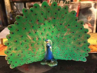 "PEACOCK Figure Schleich 2012 Collectible Bird Approx. 5""x4"" Peacock Animal Toy"