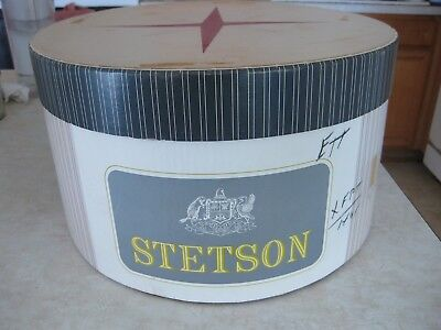 Vintage Stetson Pinstripe Oval Hatbox Rare Very Good Condition