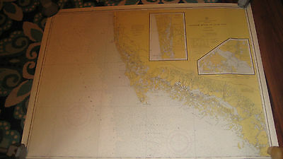Lot Of 2 Vintage 1970 SW Gulf Coast Florida Nautical Charts Florida Keys