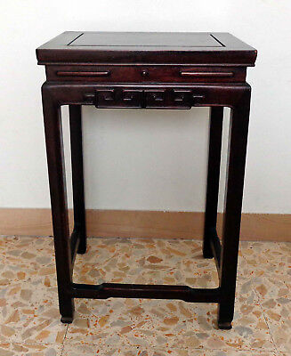 CINA (China): Fine Chinese stool made in hardwood (Rosewood ?)