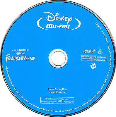 Frankenweenie Blu-ray Disc only Disney shipped from Atlanta