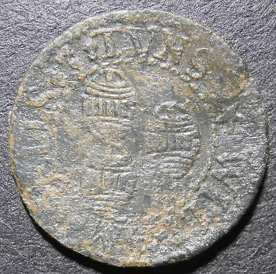 17thC farthing token - Cambridgeshire Cambridge 3 Tuns Tavern William Wells D.83