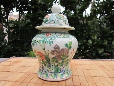 Pot Ancien Couvert En Porcelaine Chine China Cina