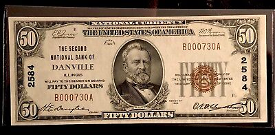 $50 National Currency Note, Series of 1929, The Second National Bank of Danville