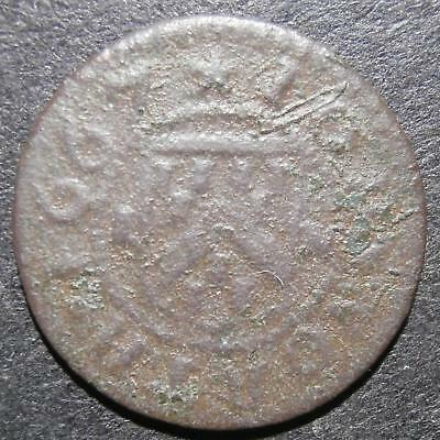 17th century halfpenny token - Cambridgeshire Hinxton 1667 John North - D.132