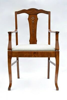 Restored Antique Art Nouveau Oak chair from Sweden