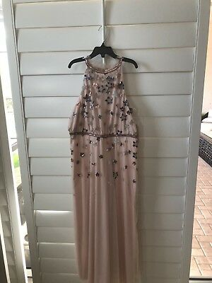 815f6d9128c Dillards GB Girls Dress Peach beige With Sequin Stars New With Tags Sixe 12