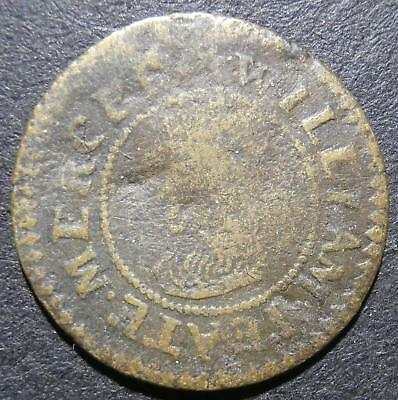 17th halfpenny token - Gloucestershire (Chipping) Campden 1666 William Yeate D31