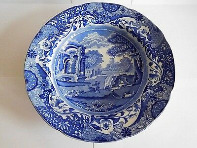Copland Spode Blue And White Italian Pattern Soup Plate Circa 1925 No1