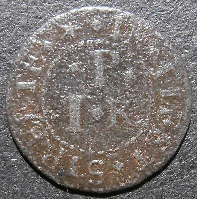 17th century farthing token - London Fleet St. at the Jerusalem - D.1090