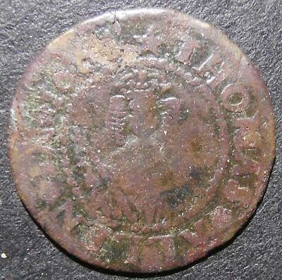 17th century halfpenny token - London Paternoster Row 1664 Thomas Allen - D.2187