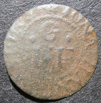 17th century farthing token - London St. John's Court 1657 Jonathan Grast D.2568