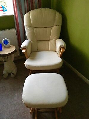 Dutailier Maternity Rocking Chair Recliner Glider and matching foot stool