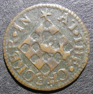 17th century farthing token - Southwark Borough 1651 at The Checker - D.79