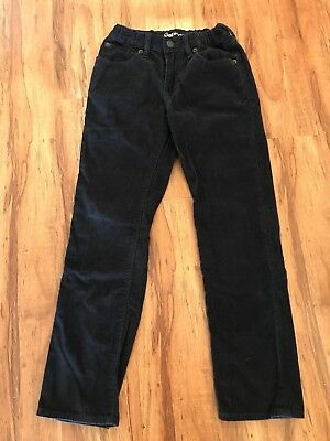 Gap Kids 1969 Corduroy Straight Fit Jeans Pants Navy Blue Boys Size 10 Regular