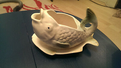 Vintage Shorter & Son Fish Sauce/Gravy Boat with Underplate. Art Deco.