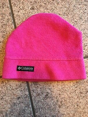 4ba87d700981 COLUMBIA HAT BEANIE TODDLER Soft Fleece PURPLE O S One Size NWT ...