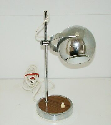 Vintage Retro 60s Eyeball Atomic Chrome Desk Table Goose Bedside lamp Daydream