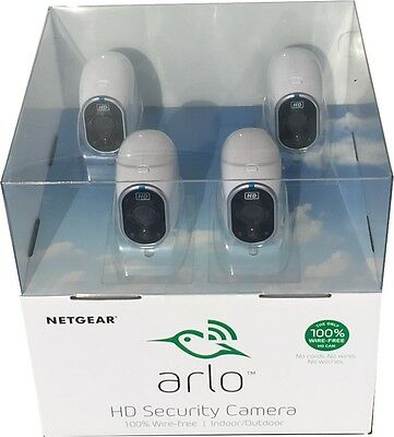 Netgear® Arlo VMS3430-100EUS Cloud HD Kamera 4er kabellos In- Outdoor NEU+OVP