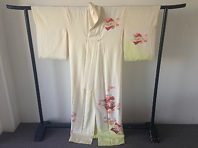 Vintage Silk Japanese Kimono Robe Costume Hand Made One of a Kind