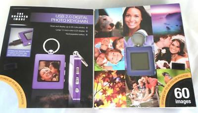 Sharper Image USB 2.0 Digital 60 Photo Album Ultra Thin Key Chain Purple New