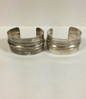 Vintage Pair of Silver Berber Bedouin Cuff Bracelets -Attractive and Hallmarked!