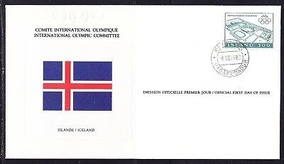 Iceland 1980 Olympic Committee Souvenir Cover