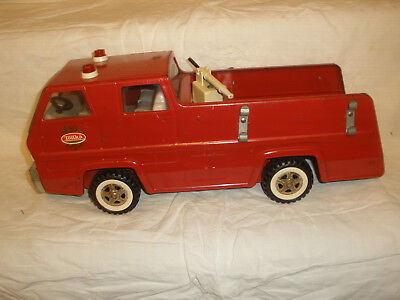 "Vintage 17"" Tonka Snorkel Red Fire Truck 1960's - 1970's Pressed Steel"
