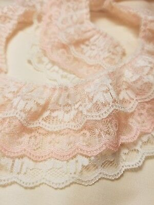 """10 yard Non-Elastic White Soft Floral Lace 3//4/"""" Wide Trim//Sewing//Decoration T198"""