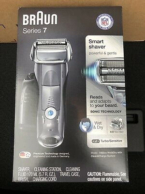 NEW UNOPENED Braun Series 7 Smart Shaver Wet & Dry 7865cc w/ clean charge system