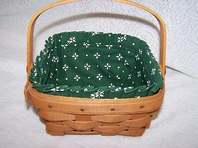 LONGABERGER HERITAGE GREEN  LINER ONLY for SMALL BERRY BASKET