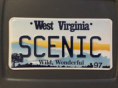 West Virginia Sample License Plate 1997 Scenic