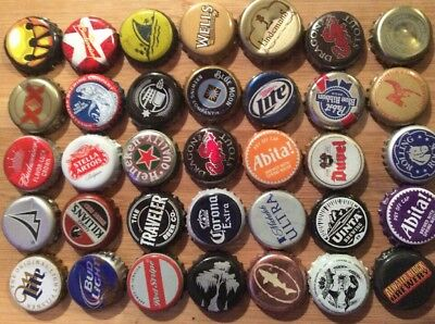 250 Beer Bottle Caps Metal Mixed Assortment Different colors Styles Types 🍺