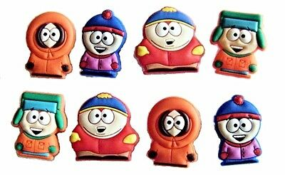 South Park Shoe Charms - 2 FREE BRACELETS - Cake Toppers - Party Favors -