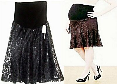 Mimi Maternity Skirt / Lace / Secret Fit Belly  Small  NWT