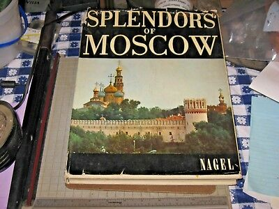 Vintage Splendors of Moscow Russia Hardback Book Art Album 1967 Poem in Pictures