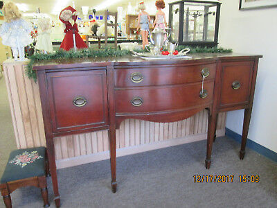 Mid Century 66 Inch Mahogany Buffet, Excellent Condition, Free Local Pickup