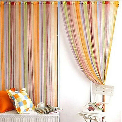 1pc Colorful Fringe Door Window Panel Room Divider String Curtain Strip Tassel