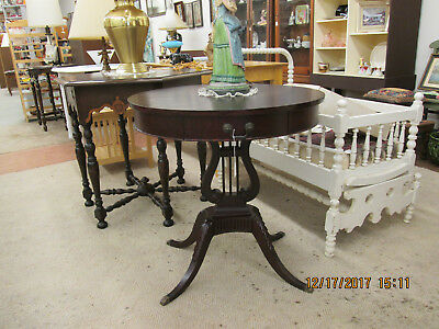Federal Style, 27 In. Dia, Mahogany Table, Excellent Condition, Free Pickup