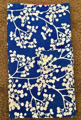 New Handmade Blue And White Floral Nappy Nappy Wipes Carrier Pouch Bag