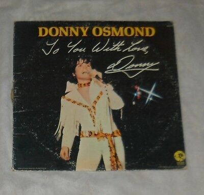 Donny Osmond, The Osmonds 2Lp Lot, To You W/love...1971, Phase-Iii, 1971!