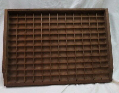 1800 sewing thread store display tray wood W/ square nails / 144 spaces jewelry?