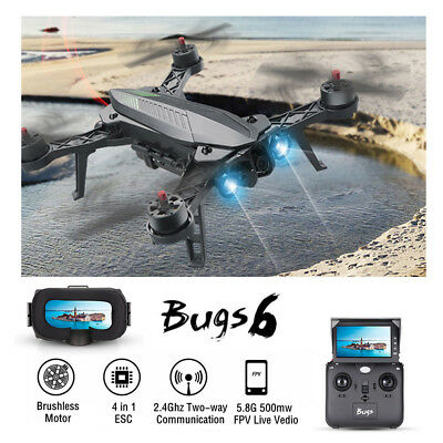 MJX B6 5.8G FPV RC Quadcopter Camera Drone with Display + G3 Goggles + Battery