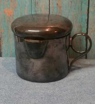 Antique Silver Plated Sugar Cup - Made in Mexico