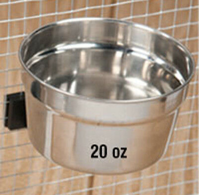 20 oz Lixit STAINLESS STEEL crock bowl parrot bird dog cat food water pet dish