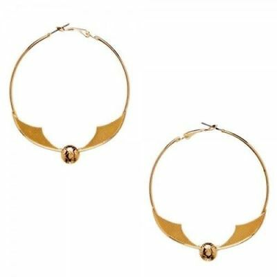 harry potter gold snitch earring hoop