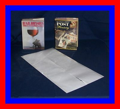 """5 - 12"""" x 24"""" Brodart ARCHIVAL Fold-on Book Jacket Covers - Super Clear Mylar"""