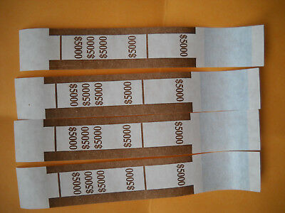 25 currency straps bands USA $50 bills